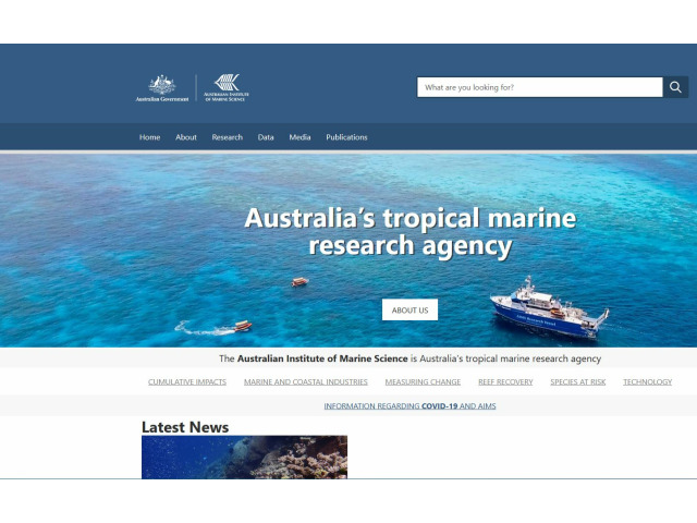 Bild der Website Australien Institue of Marine Science AIMS